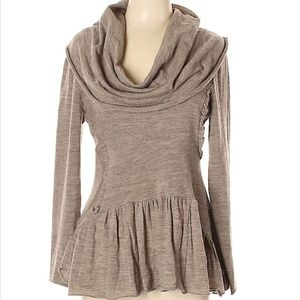 Anthropologie - Sparrow cowl neck knit top